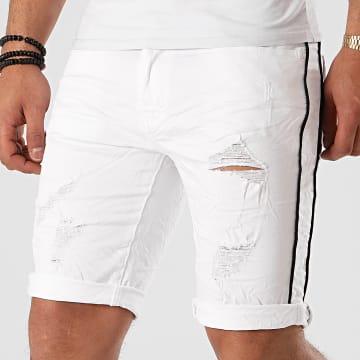 Terance Kole - Short Jean Skinny 18026 Blanc