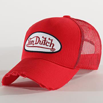 Von Dutch - Casquette Trucker Fresh Rouge
