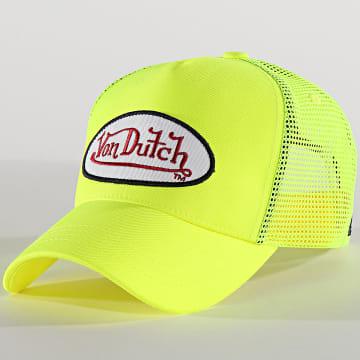 Von Dutch - Casquette Trucker Fresh Jaune Fluo