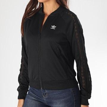 Adidas Originals - Veste Zippée Femme A Bandes FL4129 Noir