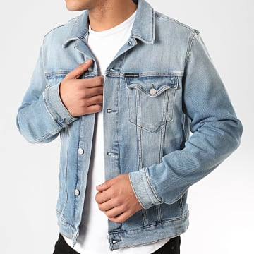Calvin Klein - Veste Jean Foundation Denim 4666 Bleu Denim