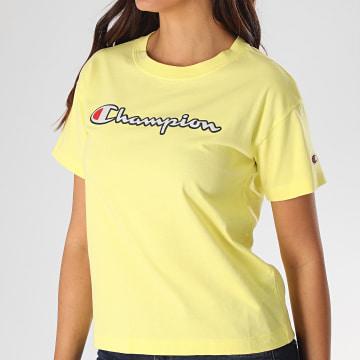 Champion - Tee Shirt Femme 112650 Jaune