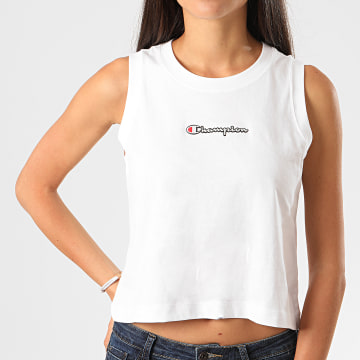 Champion - Débardeur Crop Femme 112654 Blanc