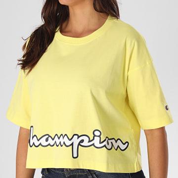 Champion - Tee Shirt Femme 112655 Jaune