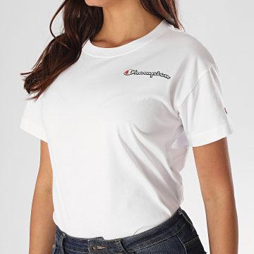 Champion - Tee Shirt Femme 113090 Blanc
