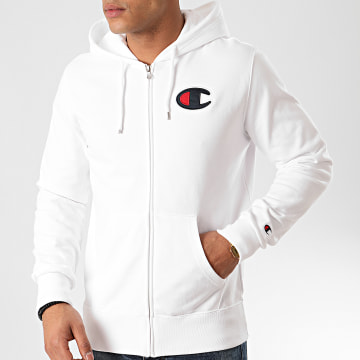Champion - Sweat Zippé Capuche 214185 Blanc