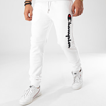 Champion - Pantalon Jogging 214190 Blanc