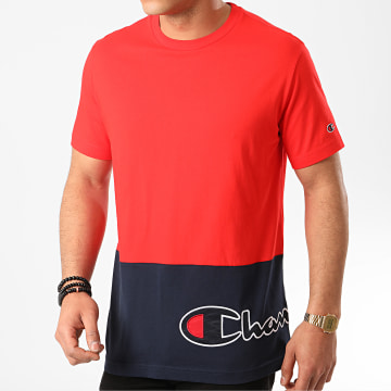 Champion - Tee Shirt 214208 Rouge Bleu Marine