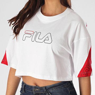 Fila - Tee Shirt Femme Crop Lavi 683072 Blanc