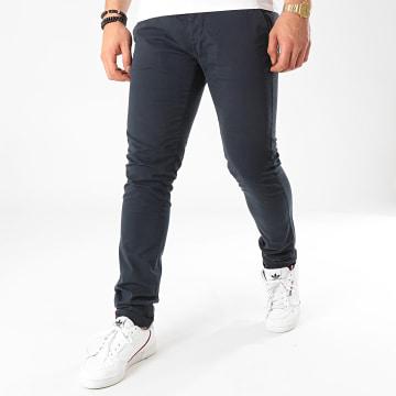 La Maison Blaggio - Pantalon Chino Tenali Bleu Marine