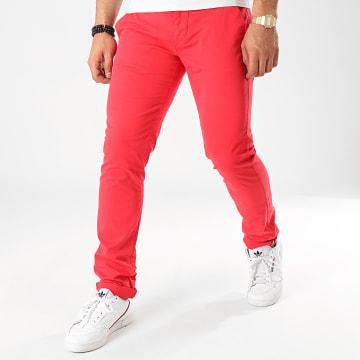 La Maison Blaggio - Pantalon Chino Tenali Rouge