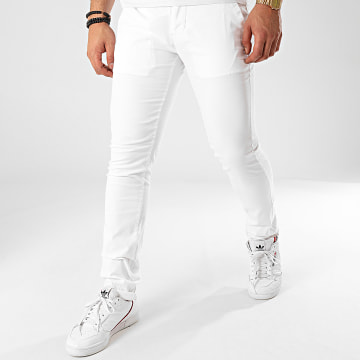 La Maison Blaggio - Pantalon Chino Tenali Blanc