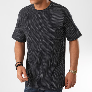 Only And Sons - Tee Shirt Hank Jacquard Bleu Marine