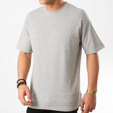 Only And Sons - Tee Shirt Hank Jacquard Gris Chiné