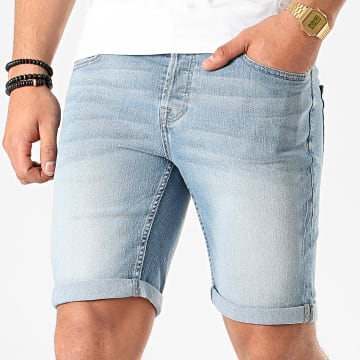 Only And Sons - Short Jean Slim Ply Bleu Wash