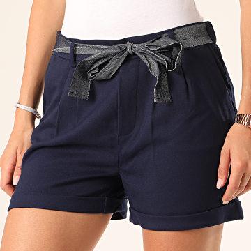 Only - Short Chino Femme Rita Loose Bleu Marine