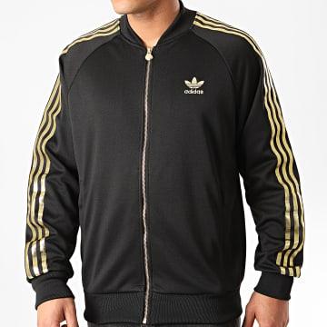 Adidas Originals - Veste Zippée A Bandes SST 24 GK0658 Noir Doré