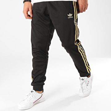 Adidas Originals - Pantalon Jogging A Bandes SST 24 GK0656 Noir Doré