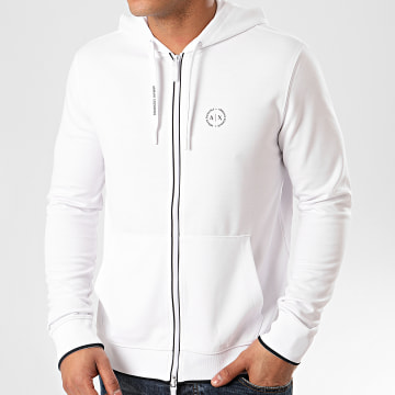 Armani Exchange - Sweat Zippé Capuche 8NZM74-Z9N1Z Blanc