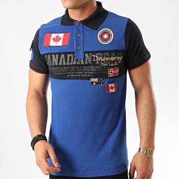 Canadian Peak - Polo Manches Courtes Kipeak Bleu Roi