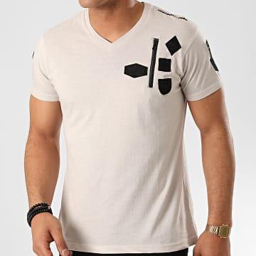 Canadian Peak - Tee Shirt Col V Jagger Gris Clair