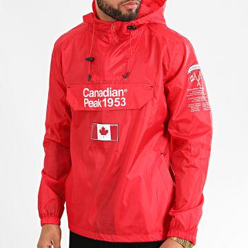 Canadian Peak - Coupe-Vent A Capuche Butaneak Rouge