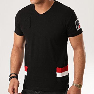 Classic Series - Tee Shirt Poche Col V Jastar Noir