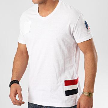Classic Series - Tee Shirt Poche Col V Jastar Blanc