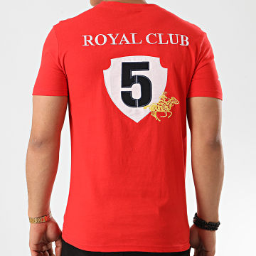Geographical Norway - Tee Shirt Col V Jisac Rouge