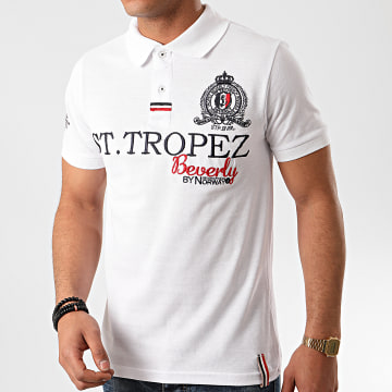 Geographical Norway - Polo Manches Courtes Karses Blanc