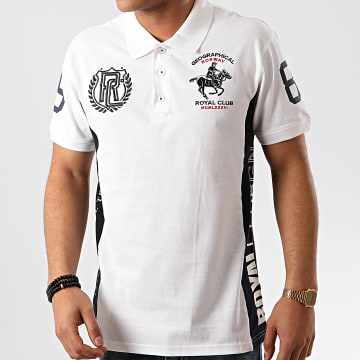 Geographical Norway - Polo Manches Courtes Kindy Blanc