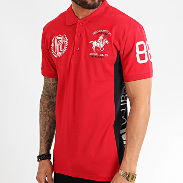 Geographical Norway - Polo Manches Courtes Kindy Rouge