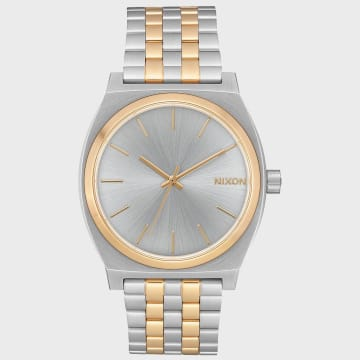 Nixon - Montre Time Teller A045-1291 Silver Gold