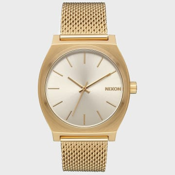 Nixon - Montre Femme Time Teller Milanese A1187-2807 All Gold Cream