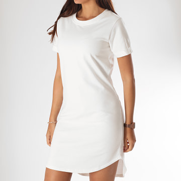 Only - Robe Tee Shirt Femme Ivy Blanc