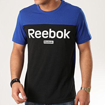 Reebok - Tee Shirt FS1635 Noir Bleu Roi