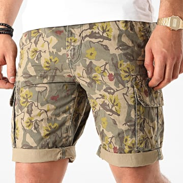 Teddy Smith - Short Cargo Camouflage Floral Shurley Vert Kaki