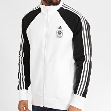 adidas - Veste Zippée A Bandes DFB Icons FI1469 Blanc Noir