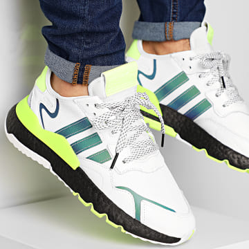 Adidas Originals - Baskets Nite Jogger EG6749 Cloud White Core Black Signal Green
