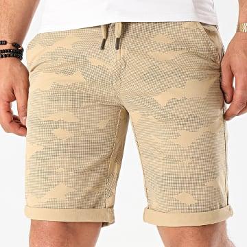 Blend - Short Chino 20710540 Beige Camouflage