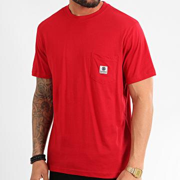 Element - Tee Shirt Poche Basic Label Rouge