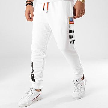Eleven Paris - Pantalon Jogging Lasa 20S1JG01 Blanc