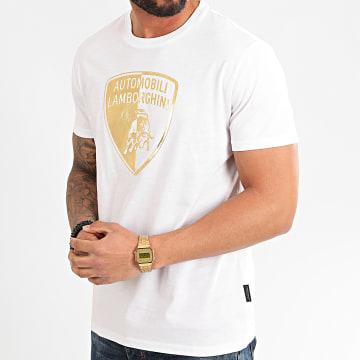 Lamborghini - Tee Shirt B3XVB7G8-30277 Blanc Doré