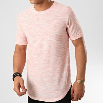 Frilivin - Tee Shirt Oversize 7241 Saumon Chiné