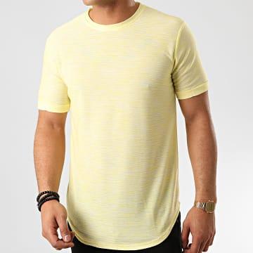 Frilivin - Tee Shirt Oversize 7241 Jaune Chiné