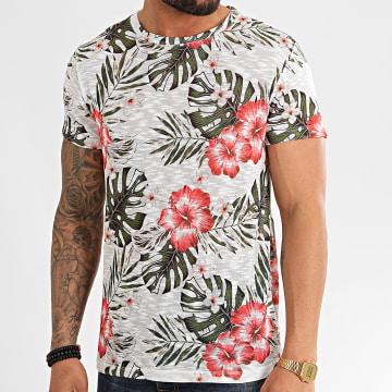 Frilivin - Tee Shirt Floral 92402 Blanc