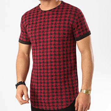 Frilivin - Tee Shirt Oversize 5421 Bordeaux Noir