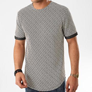 Frilivin - Tee Shirt Oversize 13813H03 Blanc Noir