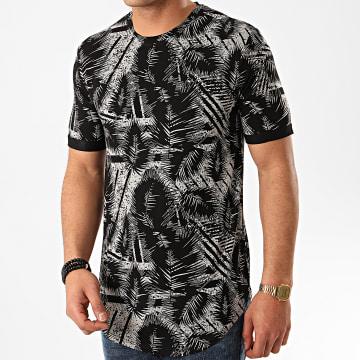 Frilivin - Tee Shirt Oversize Floral 13813 Noir