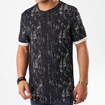 Frilivin - Tee Shirt Oversize 13813 Bleu Marine